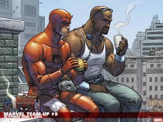 обои Marvel team-up фото