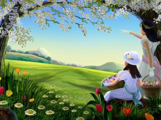 обои Весной на Пасху фото