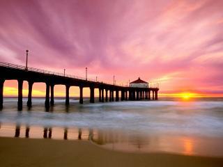 обои Рассвет в Калифорнии фото
