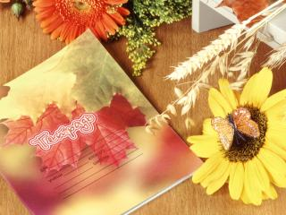 обои тетрадь с цветам фото