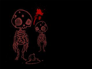 обои Инопланетяне - скелеты фото