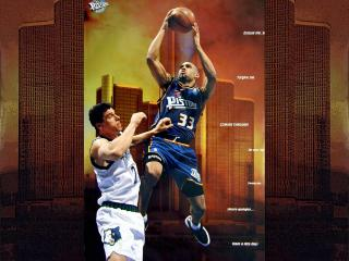 обои Впрыжке баскетболл фото