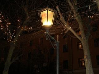обои Ночь   улица   фонарь фото
