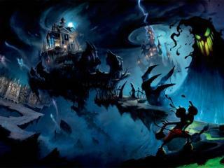 обои Микки Маус в темном королевстве фото