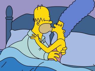 обои Гомер и Мардж в спальне фото