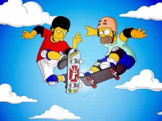 обои Гомер на скейте фото