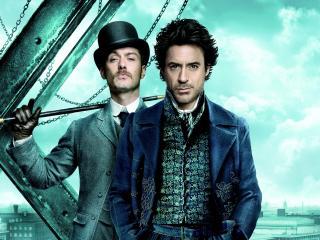 обои Шерлок Холмс и Доктор Ватсон по-американски фото
