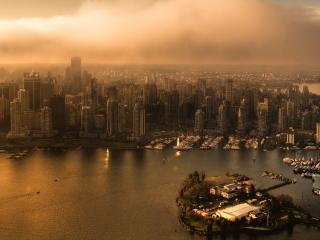 обои Город и остров фото