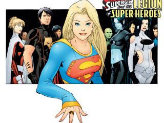 обои Supergirl and the Legion of the Super Heroes фото