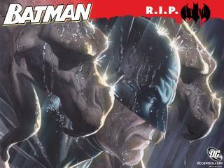 обои Batman R.I.P с грифонами фото