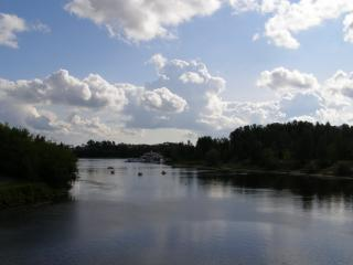 обои Река Которосль Ярославль фото