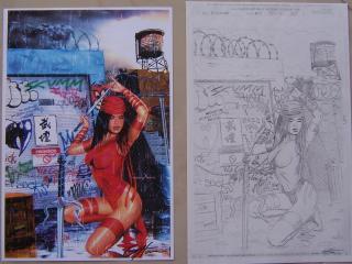 обои Elektra comics фото