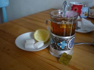обои Чай в подстаканнике фото