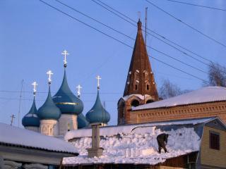 обои Снежная зима в провинции фото