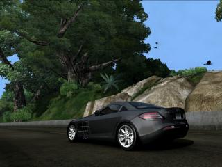 обои McLaren Mersedes mountains фото