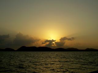 обои Закат над островами фото