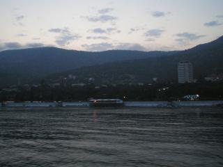 обои Ночной берег моря фото