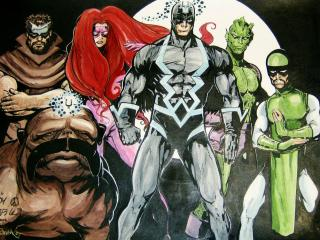 обои Inhumans comics фото
