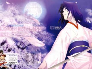 обои Рёги Шики в розовом кимоно фото