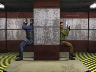 обои Counter Strike за колонной фото