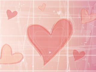 обои Розовые сердца с кубиками фото