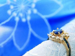 обои Золотое кольцо с топазом фото