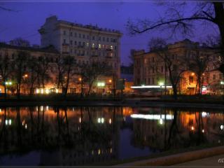 обои Ночной Петербург,   река. фото