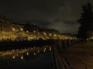 обои Ночь,   Санкт-Петербург,   река фото