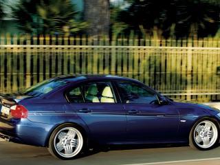обои BMW B3 alpina вид в движении фото