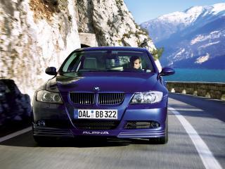 обои BMW B3 alpina вид на природе фото