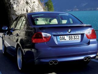 обои BMW B3 alpina вид на природе с другого ракурса фото