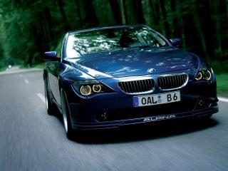 обои BMW B6 вид в лесу фото