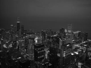 обои Ночной Чикаго фото