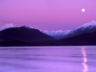 обои Сиреневые горы фото