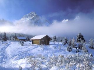 обои Домики в горах фото