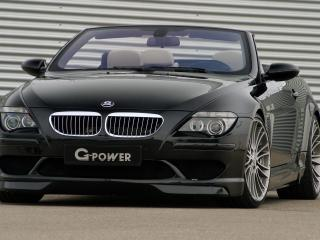 обои BMW G POWER M6 вид в полете скорости фото