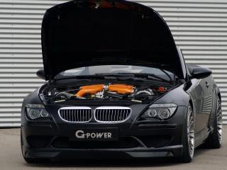 обои BMW G POWER M6 вид со стороны двигателя фото