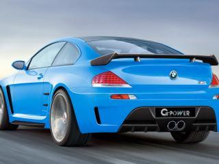 обои BMW M6 G power вид со стороны споллера фото