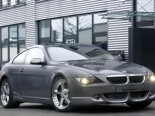 обои BMW_645Ci вид в городе с другого ракурса фото