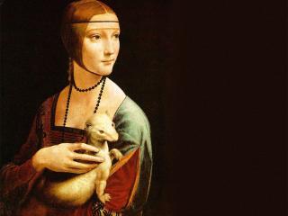 обои Дама с горностаем (1483-1490),  Леонардо да Винчи фото