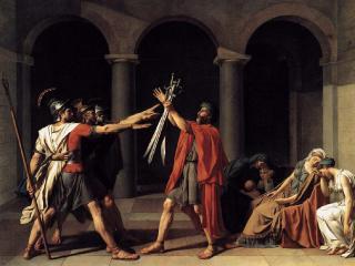 обои Клятва Горация (1784-1785),  Жак-Луи Давид фото