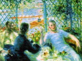 обои Завтрак каноистов (1879-1880),  Пьер-Огюст Ренуар фото