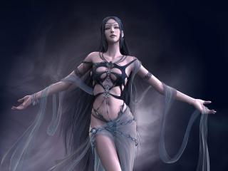 обои Etaine Goddess of Darkness Shaiya MMORPG фото