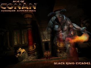 обои Age of Conan Hyborian Adventures Black Ring Citadel фото