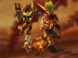 обои Jak III and Ratchet and Clank Up Your Arsenal фото