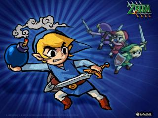 обои для рабочего стола: Legend of Zelda Four Swords Adventures