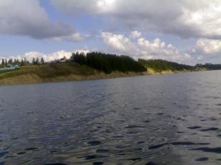 обои Вид с реки на берег фото