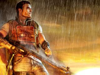 обои Games Far Cry 2 fire and rain фото