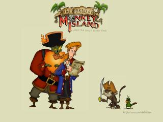 обои The World of Monkey Island фото