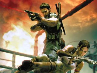 обои Games Resident Evil 5 characters фото